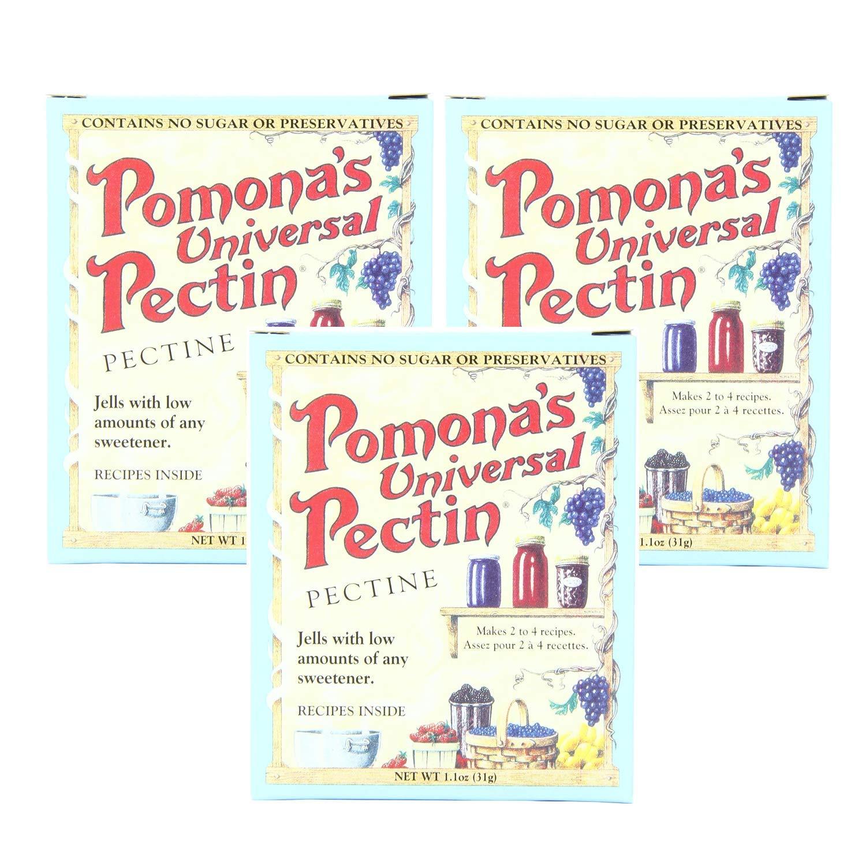 Pomona's Universal Pectin 3 Count 1.1 Ounce Boxes (3.3 Ounces To
