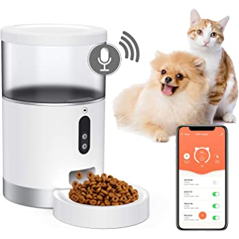 Pet Supplies Mypin Automatic Feeder For Cats Dogs Small Pets Food Dispenser Timer Programmable And Portion Control Up To 6 Meals Day Voice Recorder Low Food Alarm And Infrared Detection Black