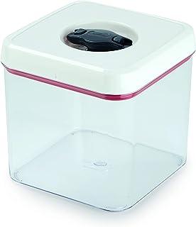 Zyliss E981058 Twist & Seal Storage Box With Lid   2.48 Litre   Plastic   Clear/White   Kitchen Storage/Bathroom Storage/F...