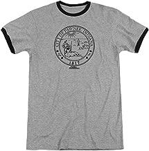 Sons of Gotham Parks & Rec - Pawnee Seal Adult Ringer T- Shirt