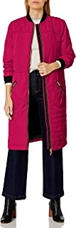 A X Armani Exchange Women's Knee Length Coat Front and Zipper Pockets