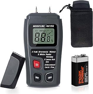 Moisture Meter TyhoTech Wood Moisture Detector LCD Damp Moisture Tester with 2 Test Probe..
