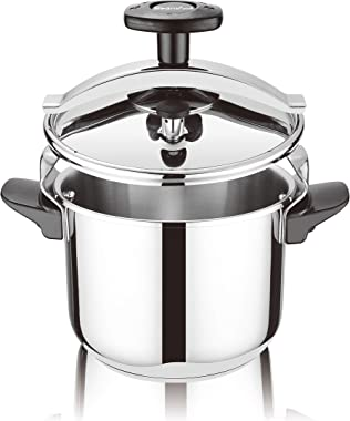 Wmsse-Steampunk Classic Stainless Steel Pressure Cooker, with Steamer (All Cookers Including Induction-CSTA24-8.4Quart
