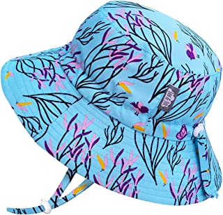 JAN & JUL Kids' GRO-with-Me Quick-Dry Sun-Hat for Boys with 50+UPF Protection, Packable