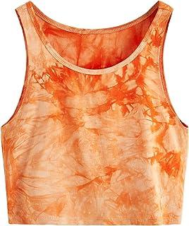 1c0f8063b90f9 SweatyRocks Women s Summer Sleeveless Letter Print Casual Crop Tank Top  Shirts