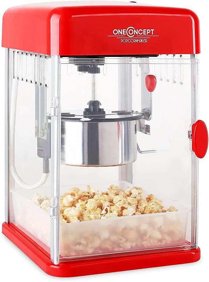 73 opinioni per oneConcept Rockkorn macchina per popcorn (350W, illuminazione interna,