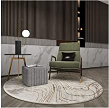 Rugs Rugs Carpets Office Computer Chair Round Floor Protector Mat Living Room Bedroom Non Slip Modern Simplicity, 2 Color...