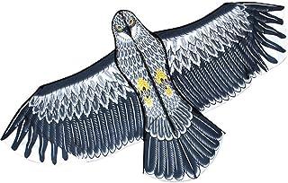 凧揚げ カイト 鷹 微風で揚がる凧 軽量 1.8m/2.4m防獣・鳥・虫用品 庭の装飾 【怖がらせ駆除・防鳥防獣対策】