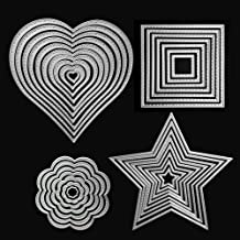 Die Cuts Cutting Dies Heart Square Flower Star Metal Embossing Stencils Template Mould for Card Scrapbooking and DIY Craft...