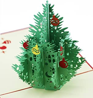 pop up christmas tree greeting cards