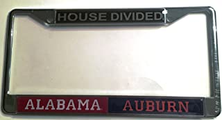 Alabama Crimson Tide - Auburn Tigers House Divided Car Tag License Frame