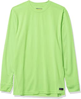Smith's Workwear Men's Long Sleeve Polyester Performance Crewneck Shirt