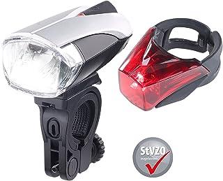 KRYOLiGHTS Fahradbeleuchtung: LED-Fahrradlampen-Set mit Lich