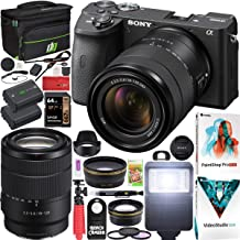 $1598 » Sony a6600 Mirrorless Camera 4K APS-C ILCE-6600MB with 18-135mm F3.5-5.6 OSS Lens Kit and Deco Gear Case + Extra Battery + Flash + Wide Angle & Telephoto Lens + Filter Kit + 64GB Accessories Bundle