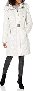Marc New York by Andrew Marc Womens MW9AD456 Plymouth Long Sleeve Faux-Fur Coat - White - X-Small