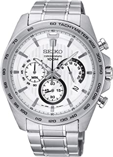Seiko Stainless Steel Chronograph Mens Watch SSB297