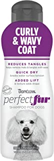 TropiClean PerfectFur Curly & Wavy Coat Shampoo for Dogs, 16oz - Made in USA - Naturally Derived - Curly & Wavy Coat Formu...