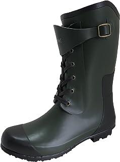 Amaort アマート メンズ レースアップ ブーツ 長靴 雨靴 通勤 アウトドア 親子 ファミリー 3色 AMT-1101 (M(25.0 cm~25.5 cm), カーキ)
