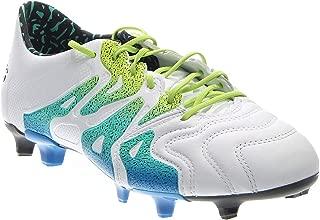 adidas Men's X 15.1 FG/AG Leather White/Semi Solar Slime/Black Sneaker 11.5 D (M)