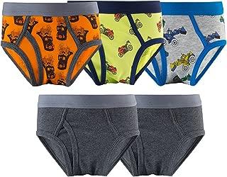 Toddler Boys Cute Transportation Spandex Underwear Little Kids Briefs Size 2-12 Years Children Pack of 5