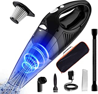 BJKing Handheld Vacuum, 6500PA Wet Dry Cordless Vacuum Cleaner with Stainless Steel HEPA Filter,
