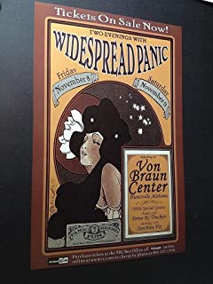 Widespread Panic Original Ltd Edition Huntsville Alabama Concert Tour Poster