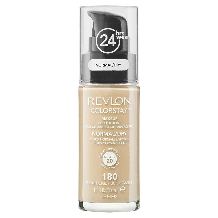 慣らすぴかぴか名目上の(180 Sand Beige) - Revlon Colorstay 24 Hours Makeup Foundation With Pump 30ml Please Choose Shade