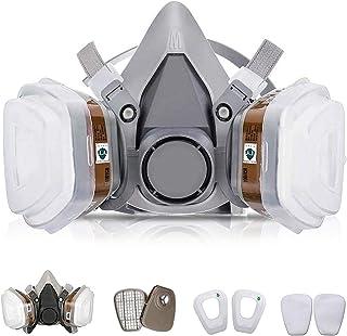 7 in 1 Half Reusable Face Respirator for 6200 Gas Painting Spray Protector Face Respirator Set for Painting, Machine Polis...