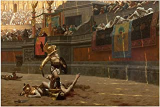 POLLICE Verso - Roman Art Gladiator - Rolled Canvas Wall Art Print - 24 in Wide