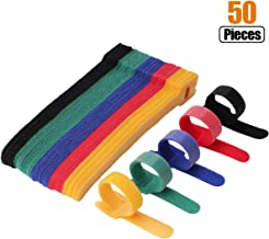 Multi-Purpose Cable Ties Reusable Cord Ties 6 Inch Cable Straps Microfiber Fastening Straps Used for Headphones Phones Electronics PC wire Management - 5 Color