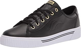 Keds womens Crew Kick Alto Sneaker, Black Leather, 8.5 US
