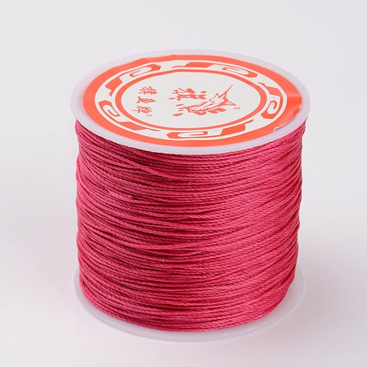 NBEADS 0.5mm 115 Yards Deep Pink Waxed Polyester Beading Cords and Threads Crafting Cord Waxed Thread for Jewelry Making Bracelet