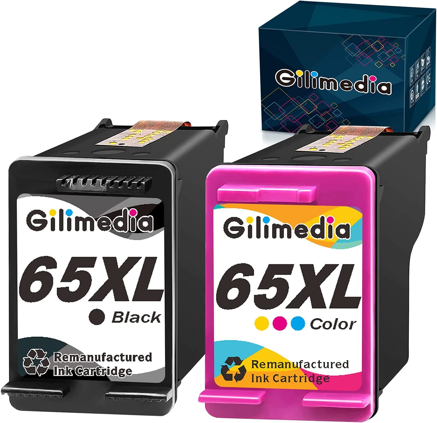 Gilimedia Remanufactured Ink Cartridges HP Max 87% OFF for 65XL Replacement Now on sale