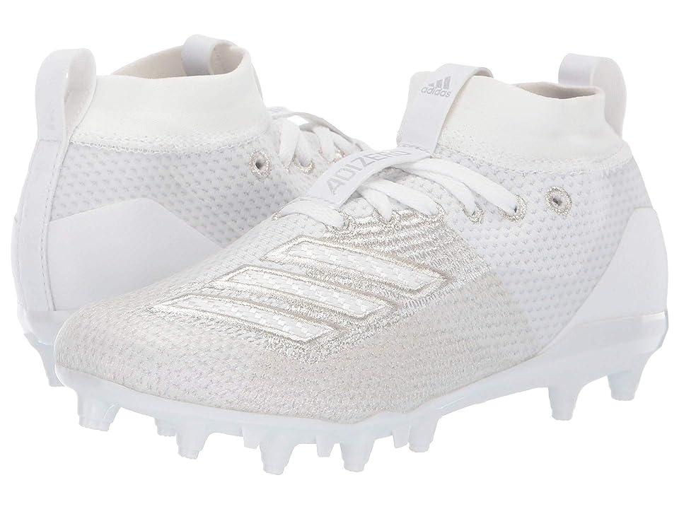 adidas Kids Adizero Burner Football (Little Kid/Big Kid) (White) Kids Shoes