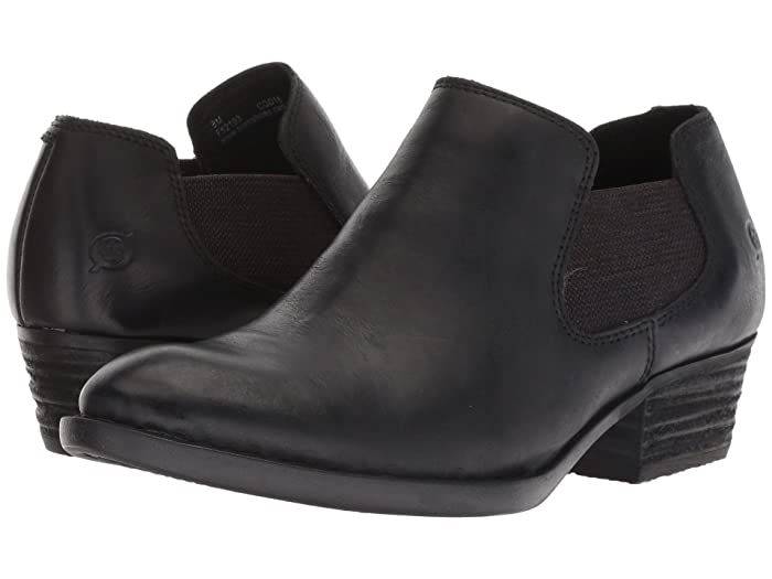 Born  Dallia (Black Full Grain) Womens Pull-on Boots