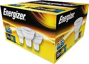 Energizer - Bombilla LED de bajo consumo (GU10, 3,6 W, 4000 K), color blanco frío, plástico, Cool White, GU10, 5W 240V