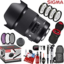 Sigma 20mm f/1.4 DG HSM Art Lens for Nikon F with and a Heavy Duty Extra Padded Lens Case