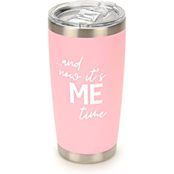Retirement Gifts for Women |.and now it's ME time | Stainless Steel Mug Tumbler with Lid for Retired Mom Grandma Sister Friend Aunt Colleague