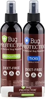 Bug Protector DEET Free, All Natural Insect/Tick Repellent Family Pack (Includes 8 oz Mosquito / 8 oz tick/Mosquito Body Balm)