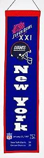 NFL New York Giants Super Bowl XXI Banner