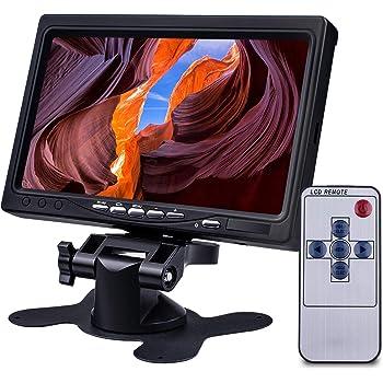 【178°全視野 色偏りなし】Miuzei 7インチ IPS 小型モニター 1080p 1024*600 液晶 小型ディスプレイ ラズパイ モニター HDMI VGA AVポート 内蔵スピーカー付き Raspberry Pi ディスプレイ4 3B+ 3b 2bに適応 日本語マニュアル