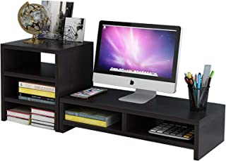 U HOOME Monitor Stand Riser, Desk Monitor Stand 2 Tier for Flat Screen TV Computer Laptop Printer Office Home and School U...