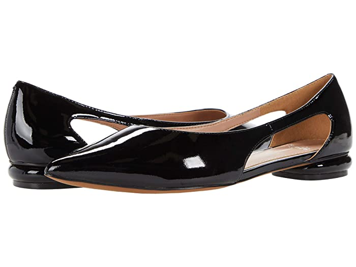 Retro Vintage Flats and Low Heel Shoes LINEA Paolo Delphi Black Womens Shoes $119.95 AT vintagedancer.com