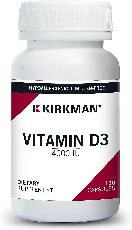 Direct sale of manufacturer Kirkman Vitamin Nippon regular agency D-3 4000 IU Hypoallergenic 120 - C Vegetarian