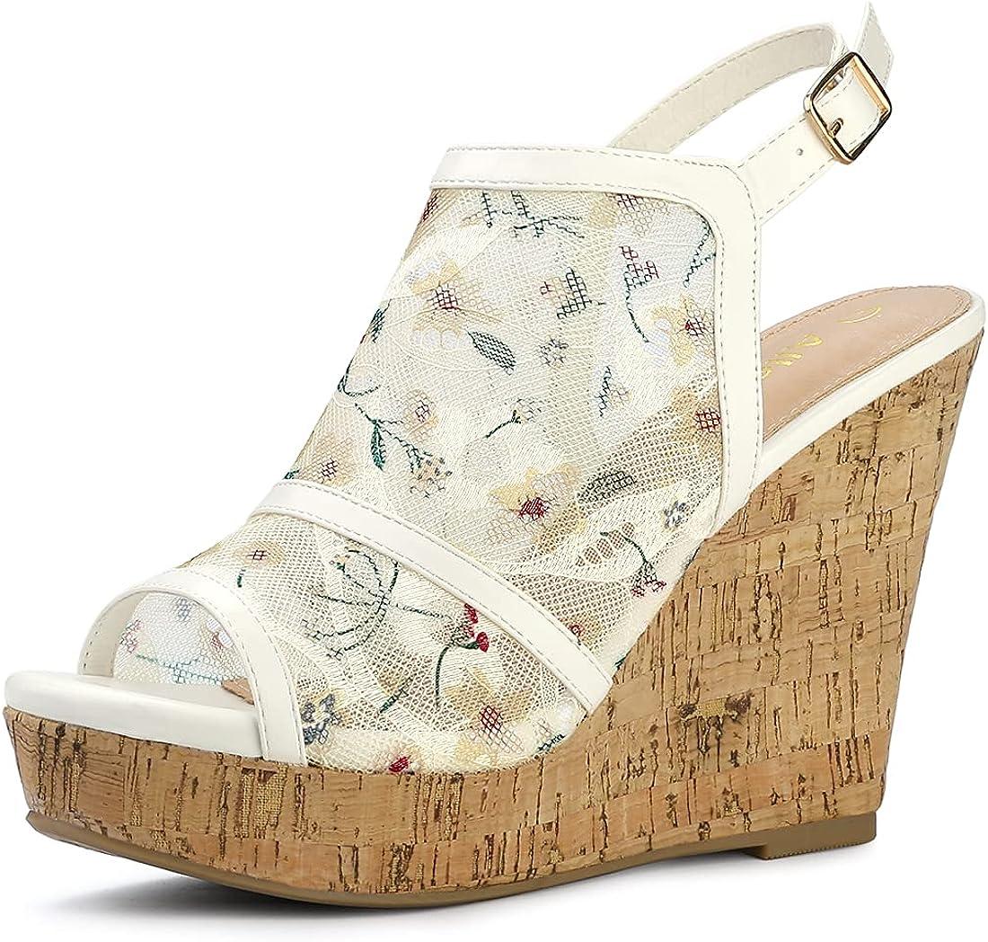 Allegra New item K Women's Open Toe Sandals Wedges Heel Fort Worth Mall Platform Lace