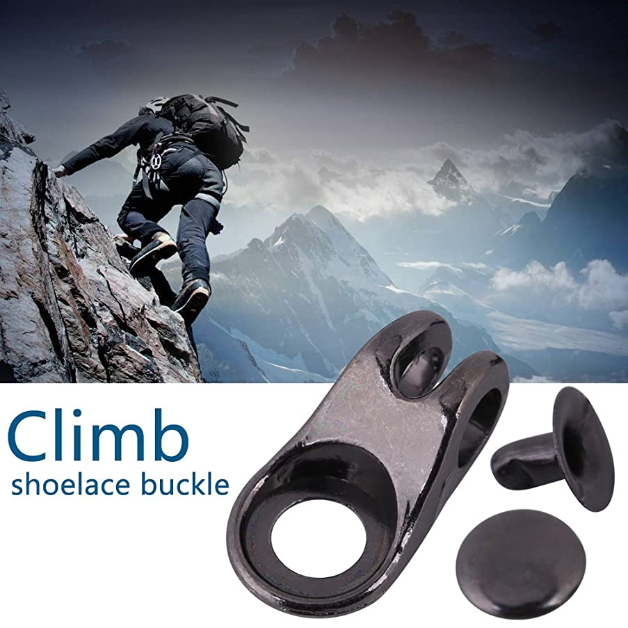 20pcs/Set Boot Lace Hooks Lace Fittings Buckles with Rivets for Repair/Camp/Hike/Climb, Shoe Lace Hooks