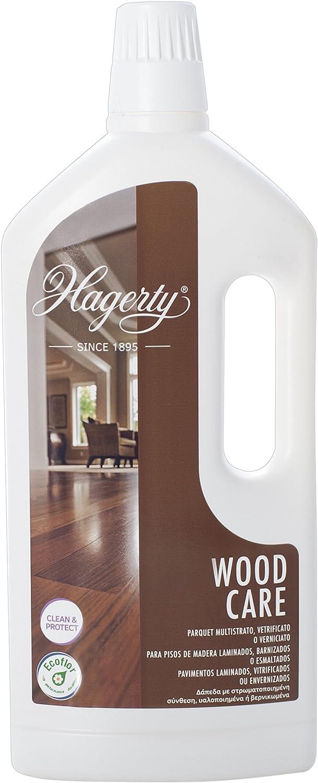 Hagerty Wood Floor Care Limpiador intensivo de todo tipo de suelos de madera 1 litro I Eficaz friegasuelos de parquet, tarima flotante o suelos laminados con efecto antideslizante