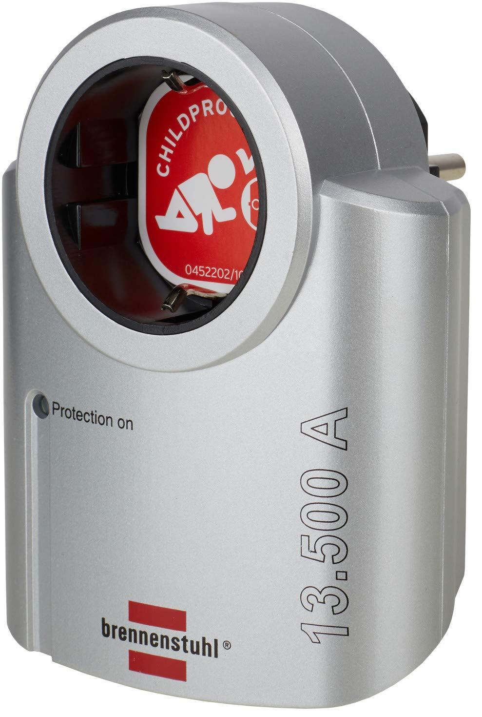 adaptateur de courant avec parasurtenseur couleur: argent//noir Adaptateur comme protection pour /équipements /électriques 1 1 Adapter Brennenstuhl primera-line