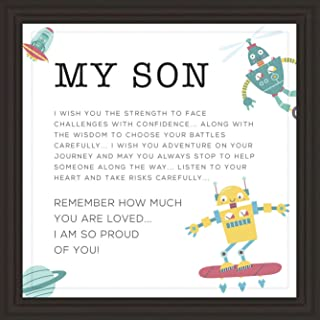 Gifts for Son | 7x7 Tile Artwork | Fun Art Prints for Sons | Special Present for Room Decor | Gift for Graduation, Birthda...