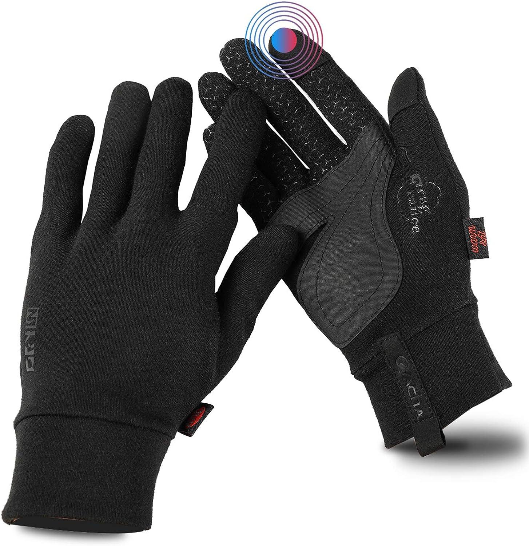 Ovacha Women Autumn Winter Warm Touchscreen Cold Weather Gloves Anti-Slip Waterproof Lightweight Sports Athletic Hand Gloves